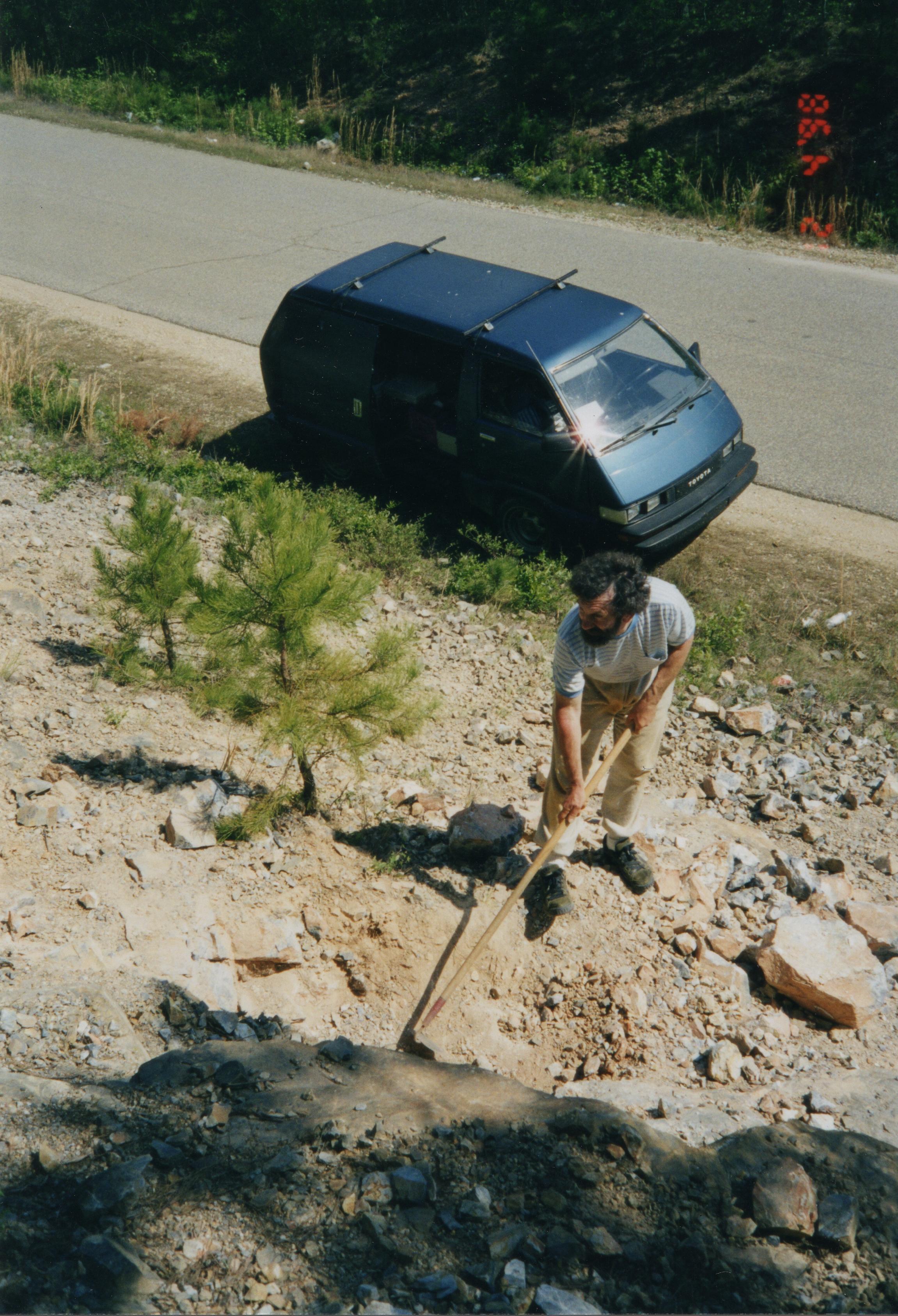 At the road cut in Magnet Cove Arkansas