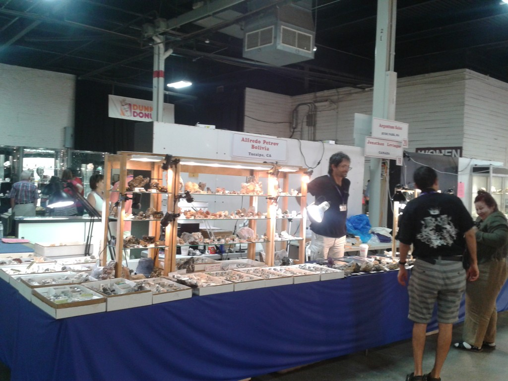 New Silver Specimens. Alfredo and Leon entertaining a customer at our booth in Springfield, Mass.