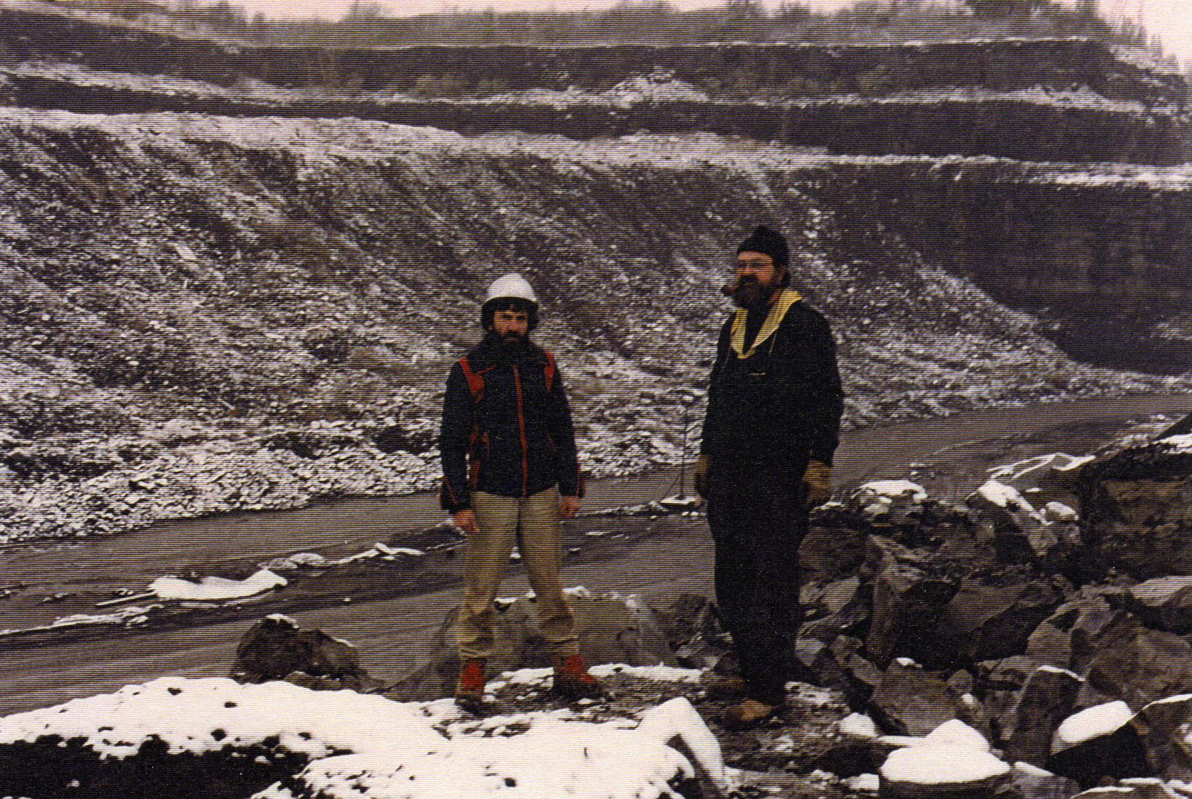 Avec Jean Guy Lamare francon quarry minerals