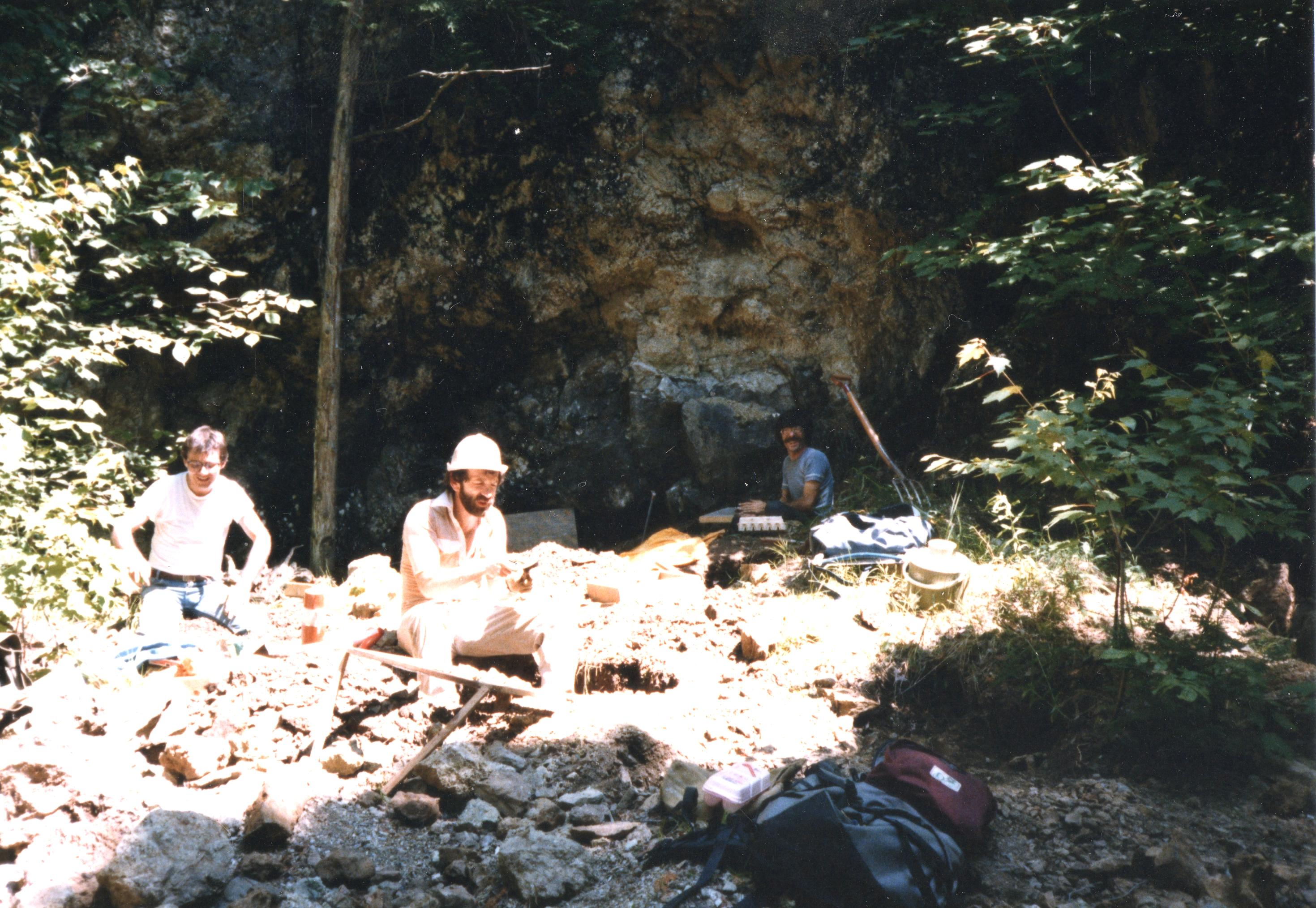 At the Orford Nickel mine 1986