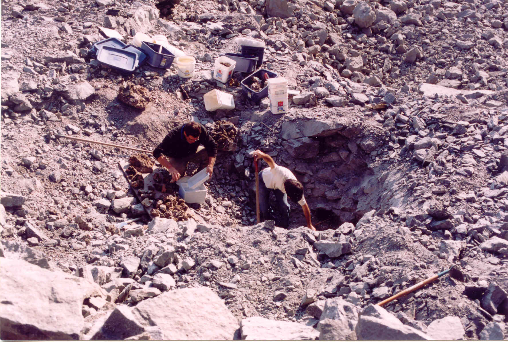 2003 Polylithionite Pocket was 14 feet deep.