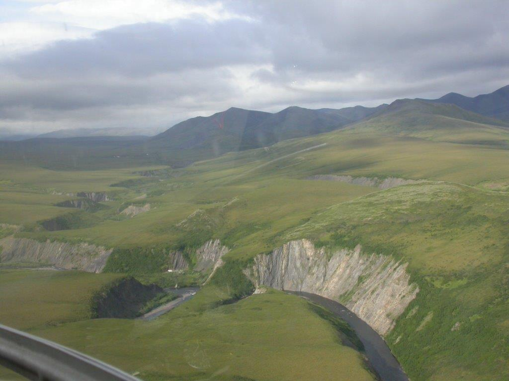 Aerial view of Rapid Creek Yukon