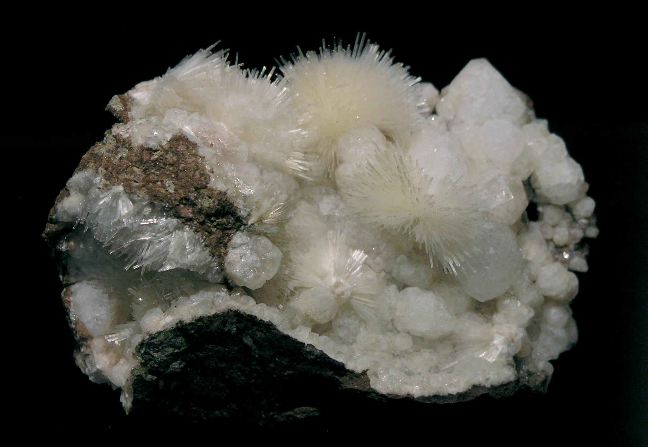 Natrolite, Analcime, Wassons Bluff, Nova Scotia, Canada - 001