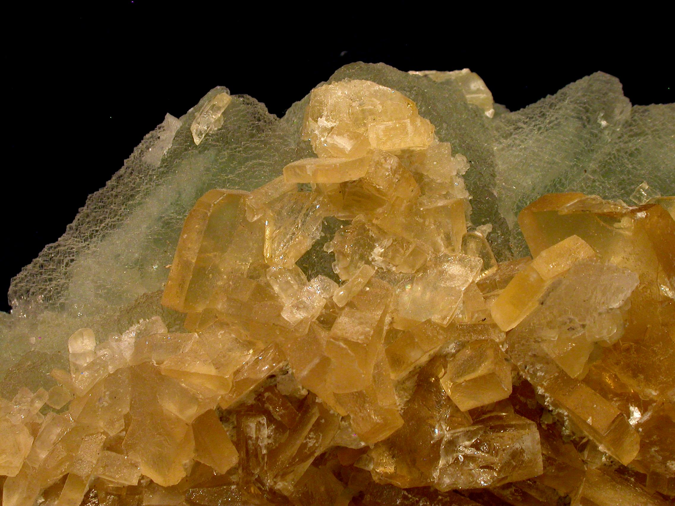 Baryte on Fluorite rock candy mine BC Canada